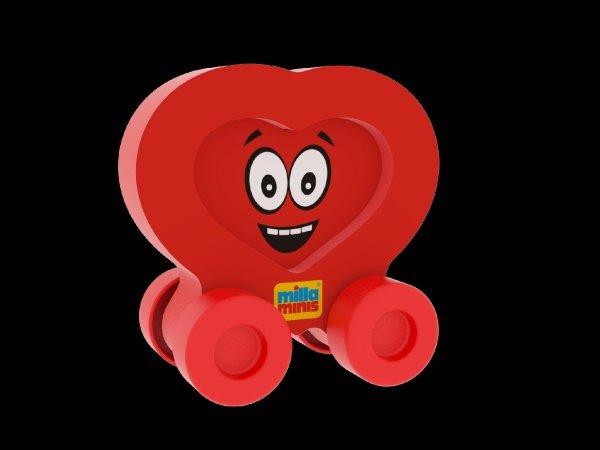 Millaminis Moje první autíčko - Obličeje - Smajlík červený