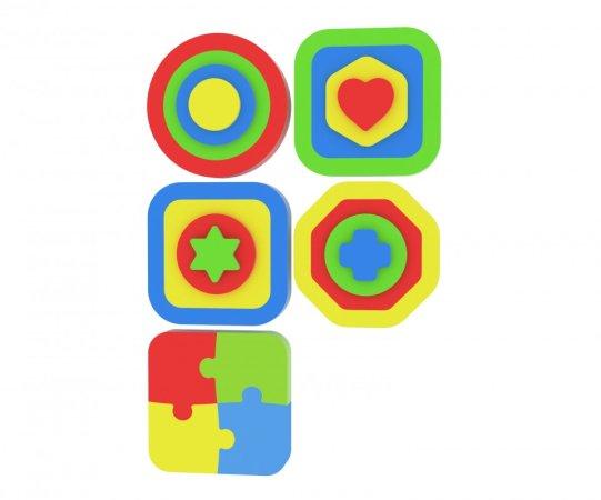 Millaminis Moje první puzzle - Tvary - vkládačka Čtverec hvězda