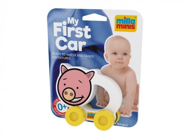 Millaminis Moje první autíčko - Domácí zvířátka - Prasátko