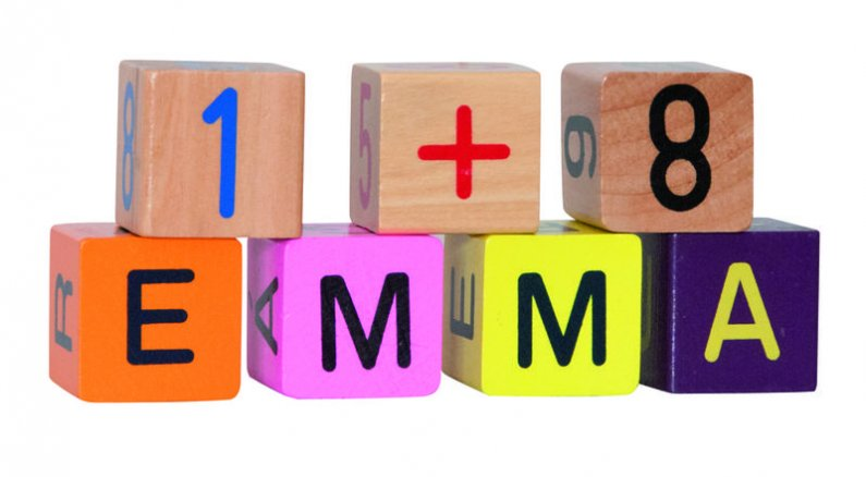 Woody Barevné kostky s písmeny  a čísly - 40 ks