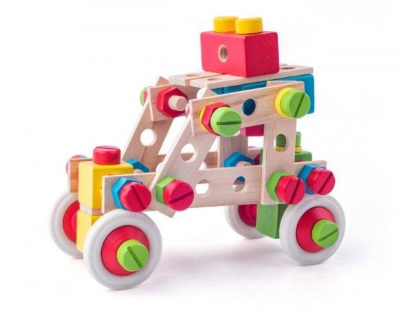 """Woody Montážní stavebnice """"Constructor"""" - 130 dílů"""
