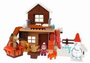 Big PlayBig Bloxx Máša a medvěd - Míšův zimní dům