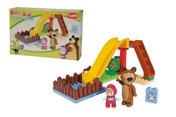 Big Play Big Bloxx Máša a medvěd - Pool Fun
