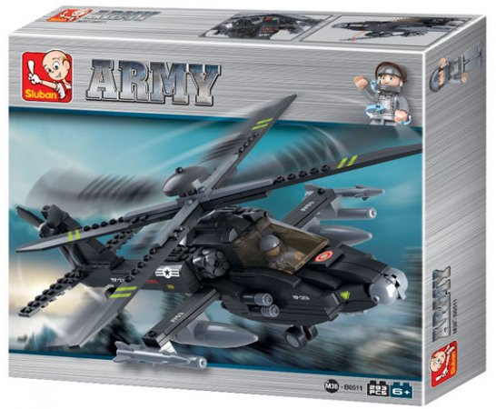 EP Line Stavebnice Sluban - Vrtulník Apache
