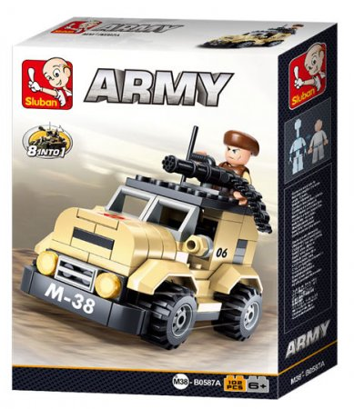 EP Line Vojenské hlídkové vozidlo - 102 dílků