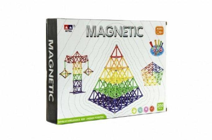 Teddies Magnetická stavebnice - 200 ks
