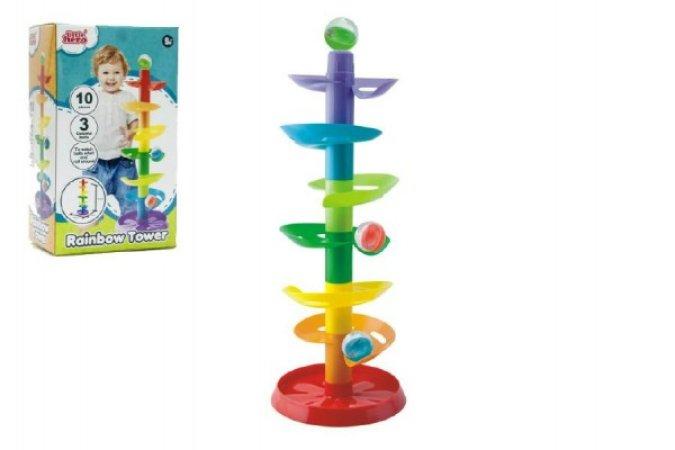 Teddies Kuličková dráha věž - 10 ks a 3 kuličky