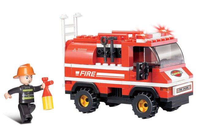 EP Line Stavebnice Sluban - Hasiči - hasičské auto