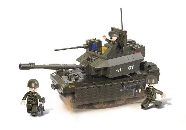 EP Line Stavebnice Sluban - Vojáci a tank M1A2 Abrams