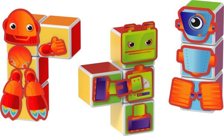 Geomag Stavebnice Geomag - Magicube Roboti