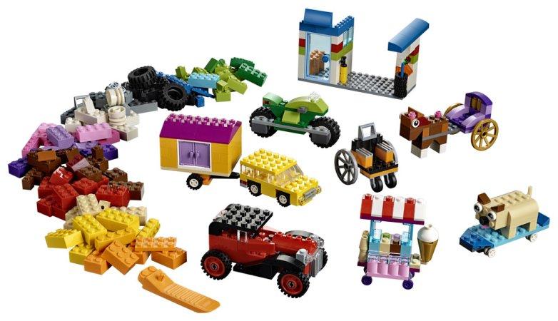 LEGO Classic 10715 - Kostky na kolečkách