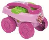 Ecoiffier Abrick Maxi vozík s kostkami růžový - 40 ks