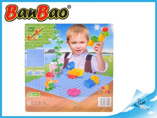 BanBao Stavebnice Young Ones - Základní deska modrá - 25,5 x 25,5 cm
