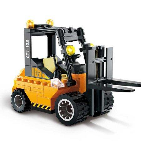 Enlighten Brick Stavebnice - Vysokozdvižný vozík - 115 dílů