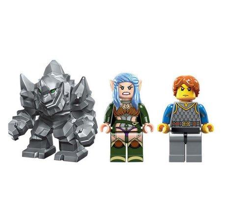 Enlighten Brick Stavebnice - Kamenné stanoviště - 134 dílů