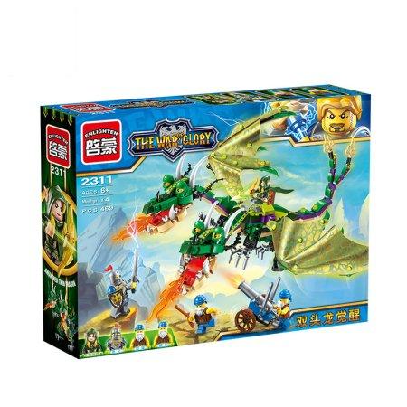 Enlighten Brick Stavebnice - Dvojhlavý drak - 469 dílů