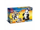 Enlighten Brick Stavebnice 3v1 - Panda/Robot/Vesmírná loď - 221 dílů