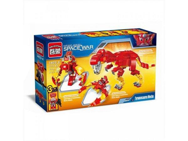 Enlighten Brick Stavebnice 3v1 - Dino/Robot/Vesmírná loď - 231 dílů