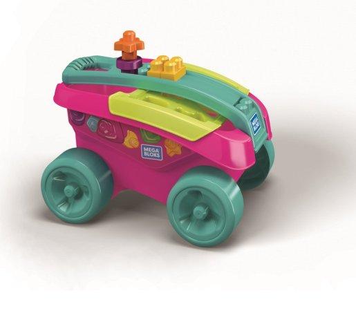 Mattel Mega Bloks - Zábavný sběrač kostek - růžový