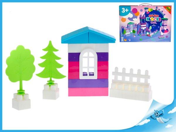 Mikro trading Kostky fialové - 202 ks v krabičce