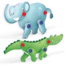 Quercetti Tecno Puzzle 3D - slon a krokodýl