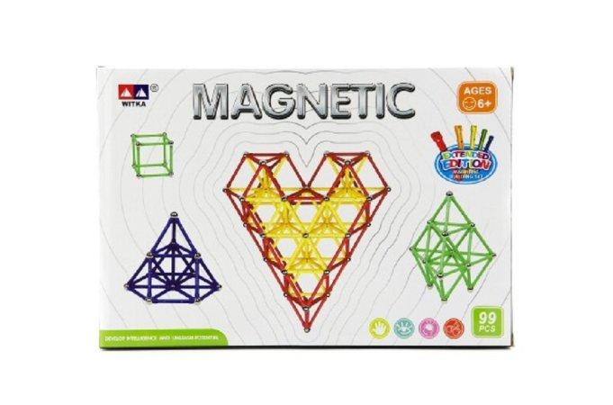 Teddies Magnetická stavebnice - 99 ks