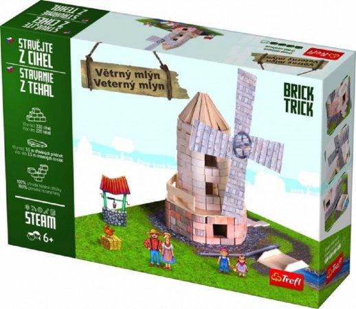 Trefl Brick Trick - Stavějte z cihel - Větrný mlýn + lepidlo