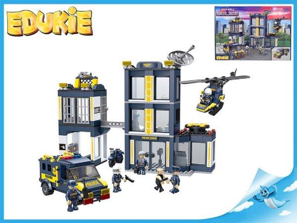 Edukie stavebnice - Policejní stanice s autem - 495 ks