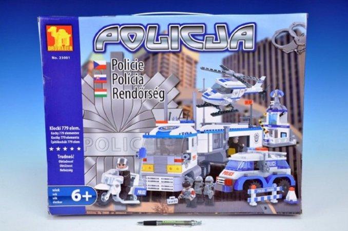 Dromader Stavebnice Policie, auto, vrtulník a stanice - 779 ks