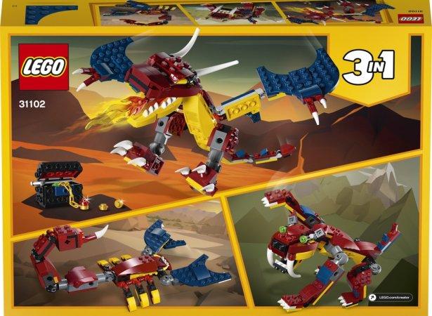 LEGO Creator 31102 - Ohnivý drak 3v1