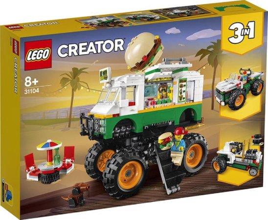 LEGO Creator 31104 - Hamburgerový monster truck 3v1
