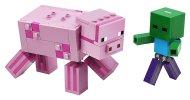 LEGO Minecraft 21157 - Velká figurka: Prase s malou zombie