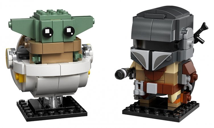 LEGO Brick Headz 75317 - Mandalorian a dítě