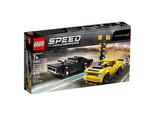 LEGO Speed Champions 75893 - 2018 Dodge Challenger SRT Demon a 1970 Dodge Charger R/T
