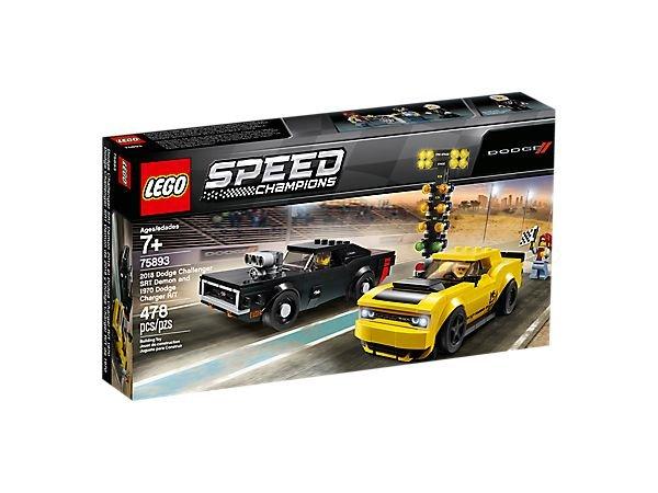 LEGO Speed Champions 75893 - 2018 Dodge Challenger SRT Demon a 1970 Dodge Charger R/T