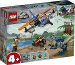 LEGO Jurassic World 75942 - Velociraptor: Záchranná mise s dvouplošníkem