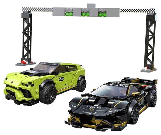 LEGO Speed Champions 76899 - Lamborghini Urus ST-X & Lamborghini Huracán Super Trofeo EVO