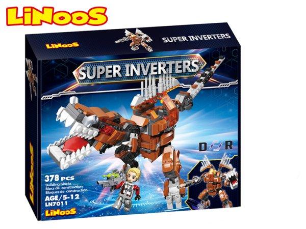 Mikro trading LiNooS stavebnice Super Inverters - Robot/dinosaurus - 378 ks