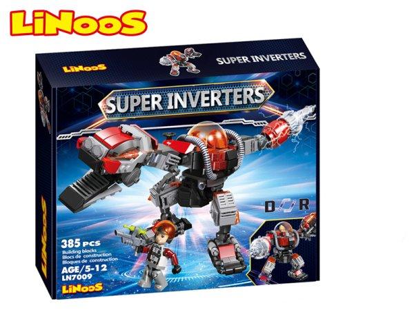 Mikro trading LiNooS stavebnice Super Inverters - Robot/dinosaurus - 385 ks