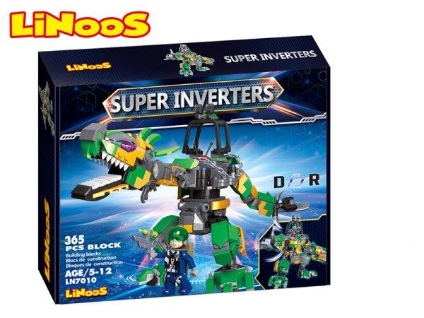 Mikro trading LiNooS stavebnice Super Inverters - Robot/dinosaurus - 365 ks