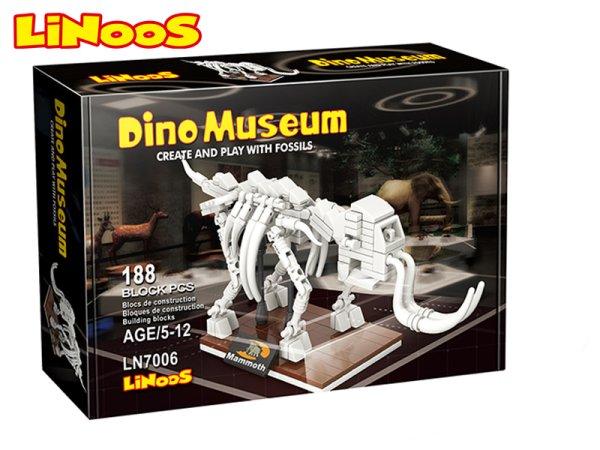 Mikro trading LiNooS stavebnice Dino Museum - Skelet mamut - 188 ks