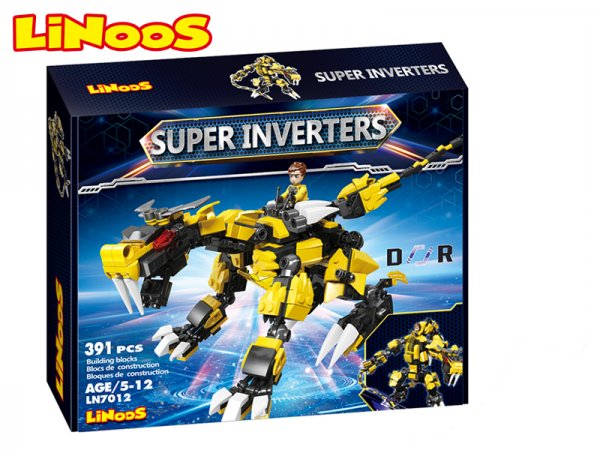 Mikro trading LiNooS stavebnice Super Inverters - Robot/dinosaurus - 391 ks