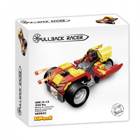 Mikro trading LiNooS stavebnice Pullback Racer - Auto sportovní - 224 ks