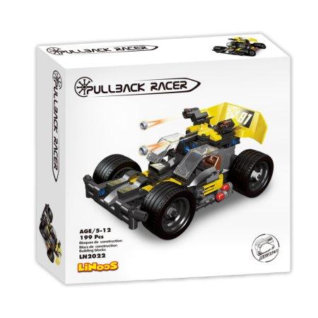 Mikro trading LiNooS stavebnice Pullback Racer - Auto sportovní - 199 ks