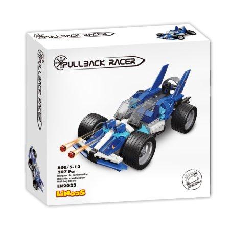 Mikro trading LiNooS stavebnice Pullback Racer - Auto sportovní - 207 ks