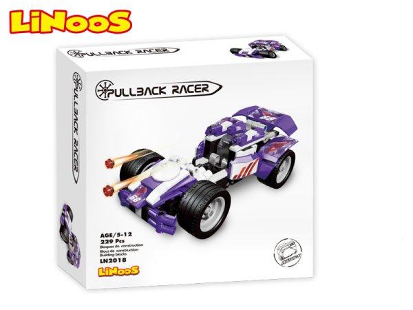 Mikro trading LiNooS stavebnice Pullback Racer - Auto sportovní - 229 ks