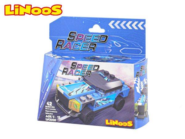 Mikro trading LiNooS stavebnice Speed Racer - Auto sportovní - 42 ks