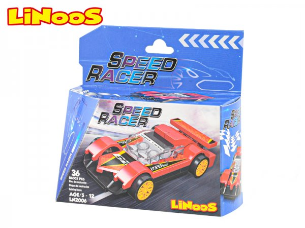 Mikro trading LiNooS stavebnice Speed Racer - Auto sportovní - 36 ks
