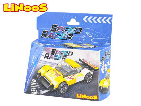 Mikro trading LiNooS stavebnice Speed Racer - Auto sportovní - 40 ks