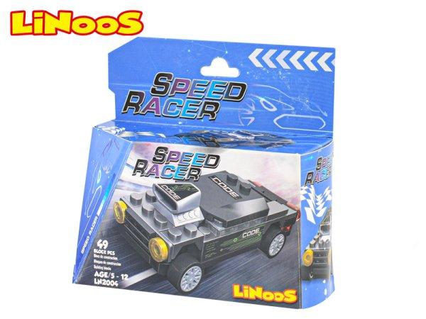 Mikro trading LiNooS stavebnice Speed Racer - Auto sportovní - 49 ks